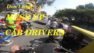 ROAD RAGE - BIKER VS  CAB DRIVER on BTM RING ROAD