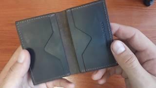 Обзор. Кожанный картхолдер Grande Pelle Cartolina (шоколад). Интернет магазин Lekos