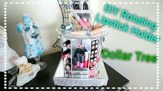 Dollar Tree DIY Rotating Bling Lipstick Tier Organizer Display for $15