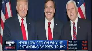 Mike lindell, ceo of mypillow, talks about his support president trump and how he knows that will persevere get agenda done. for more info, ...