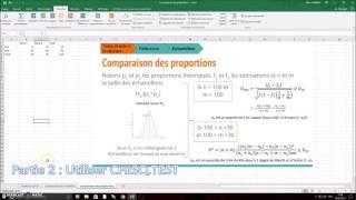 Excel : Faire un test de comparaison des proportions