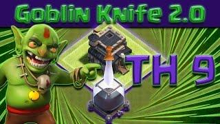 Clash of Clans - TH9 Goblin knife 2.0 Dark Elixir Farming Tutorial