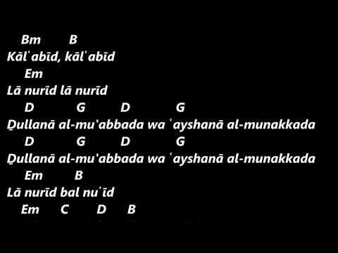 Murad Swaity Mawtini chord lirik