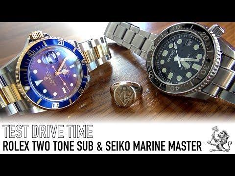 Test Driving A Rolex Submariner 16613 & A Seiko Marine Master 300m SBDX017 Automatic Dive Watch