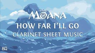How far i'll go - moana (clarinet sheet music)