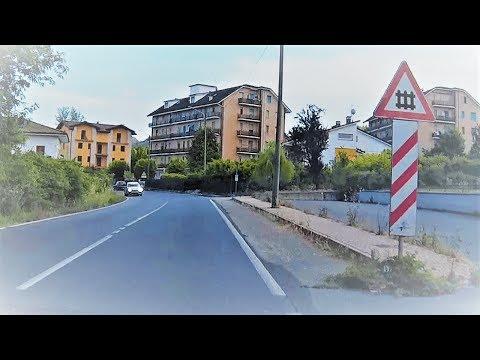 Passaggio a livello Visone (AL) e attraversando il paese # railroad crossing # bahnübergang