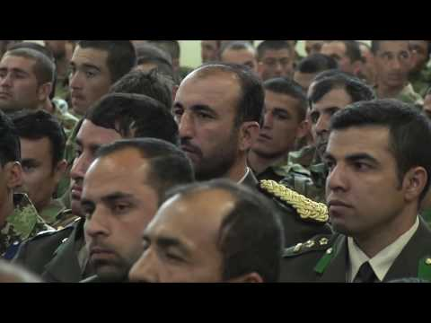 Graduation at the Afghan National Army Officers Academy