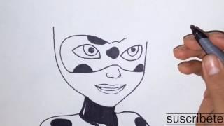 como dibujar a ladybug/ how to draw ladybug - the adventures of ladybug girl