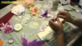 как сделать орхидею из ткани