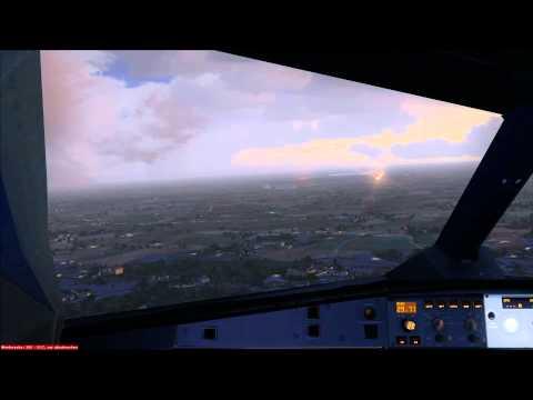 Cockpit Landing Etihad A330-200 at Bangkok