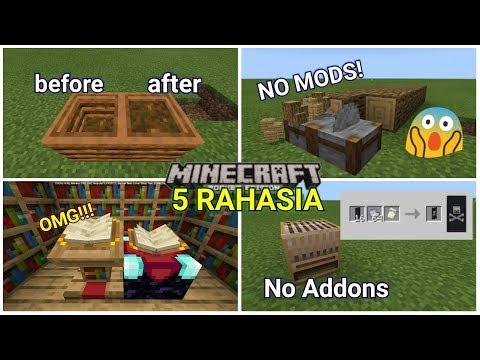 5 Fungsi Rahasia Block Baru Yg Mungkin Kalian Blm Ketahui Di MinecraftPE! NoMods NoHoaX