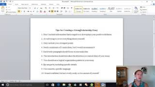 Tips for Writing a Strong Scholarship Essay