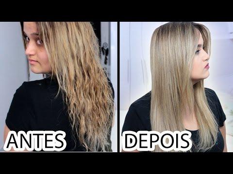 Como reduzir o volume do cabelo sem danificar   Botox em casa להורדה