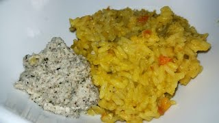 Kitchri (Split Pea Rice) with Coconut Chutney