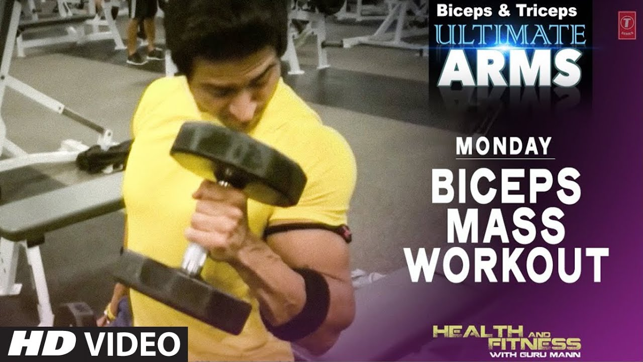 Monday: BICEPS MASS WORKOUT | Ultimate Arms by Guru Mann