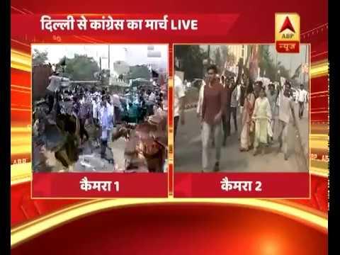 दिल्ली: CBI विवाद को लेकर कांग्रेस का विरोध प्रदर्शन,मार्च के जरिए राहुल गांधी का हल्ला बोल