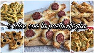 5 SEMPLICI  IDEE per ANTIPASTI con la PASTA SFOGLIA  | Easy Puff Pastry Recipe Ideas