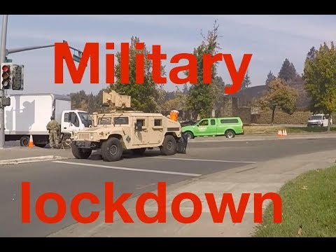 Santa Rosa Fires: Observations & Military Lockdown of Abnormal Fire Zones