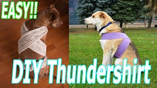 EASY! How to DIY THUNDERSHIRT (4th of July WEEKEND) Fireworks Dogs Cats Keep Pets Safe!!