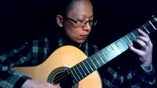 Tình xưa nghĩa cũ guitar solo (V. Lôi An Na)