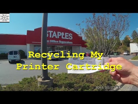 Recycling My Printer Cartridge