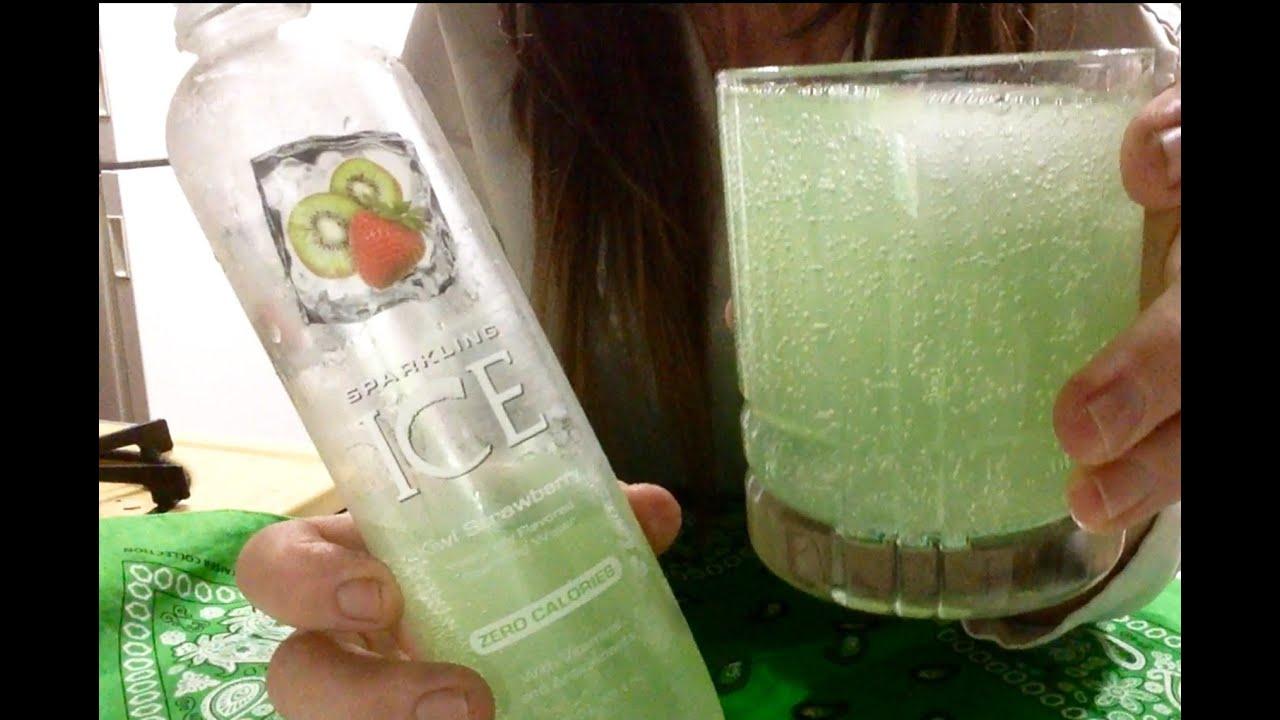 Kiwi Strawberry Sparkling Ice Drink, Get Thirsty! ASMR, Soft Spoken, Ice Clinking, Drinking