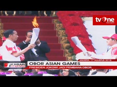 Presiden Jokowi Jadi Pembawa Obor Asian Games 2018