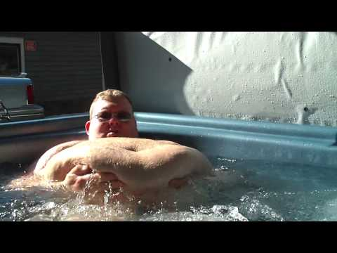 Fat Man Takes A Soak In The Hot Tub   YouTube