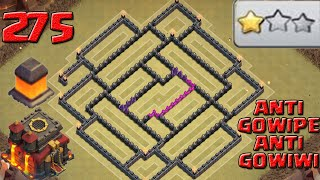 Clash of clans th10 Best war base (Anti 2 stars,Anti lavaloonion, antigowipe)- 275 walls