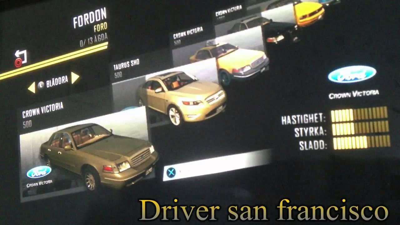 Driver san francisco ''ALL CARS'' PS3