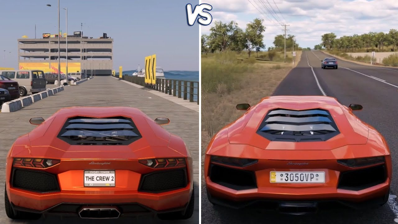 The Crew 2 Vs Forza Horizon 3 - Lamborghini Aventador Gameplay Comparison  Hd  Throneful 04:49 HD