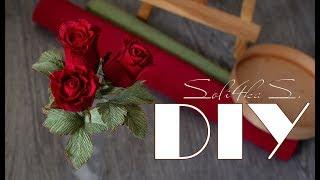 як зробити троянду з гофрованого паперу відео покроковий