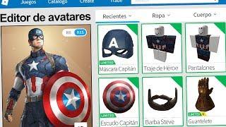 We created the PROFILE of CAPITAN AMERICA VENGADORES in ROBLOX !! | Rovi23 Roblox