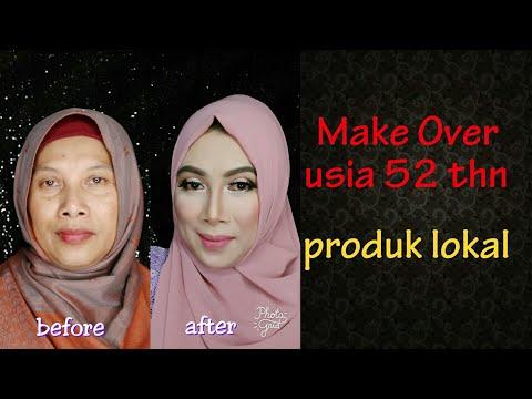 tutorial-make-up-usia-40-keatas-(model-usia-52-thn)-menggunakan-produk-lokal