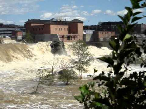 Great Falls, Androscoggin River, Auburn, Maine   two days after Hurricane Irene   Part I