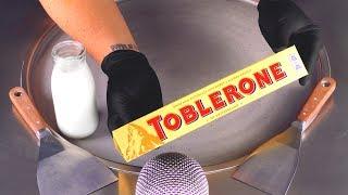 ASMR - TOBLERONE Ice Cream Rolls  oddly satisfying crushing tapping &amp scratching - no talking Food