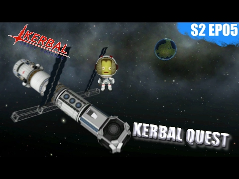 Kerbal Space Program - MUN SPACE STATION - Kerbal Quest S2 - Part 05