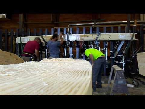 Making a gluelam beam