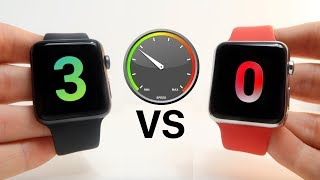 Apple Watch Series 0 vs Series 3 Speed Test!