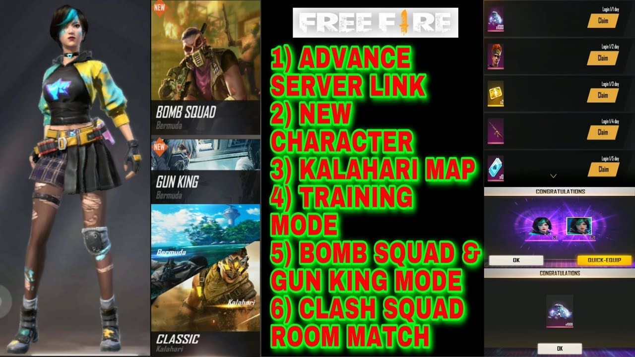 Free fire advance server details and download link in tamil for first time / TGB
