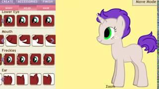 ~1 часть~  Создаю пони на Pony Creator читать описания 