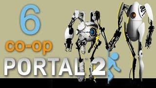 Portal 2 co op Прохождение игры на русском Кооператив #6