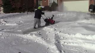 Snow Blowing Driveway and Walks 7 Minutes 1 Person