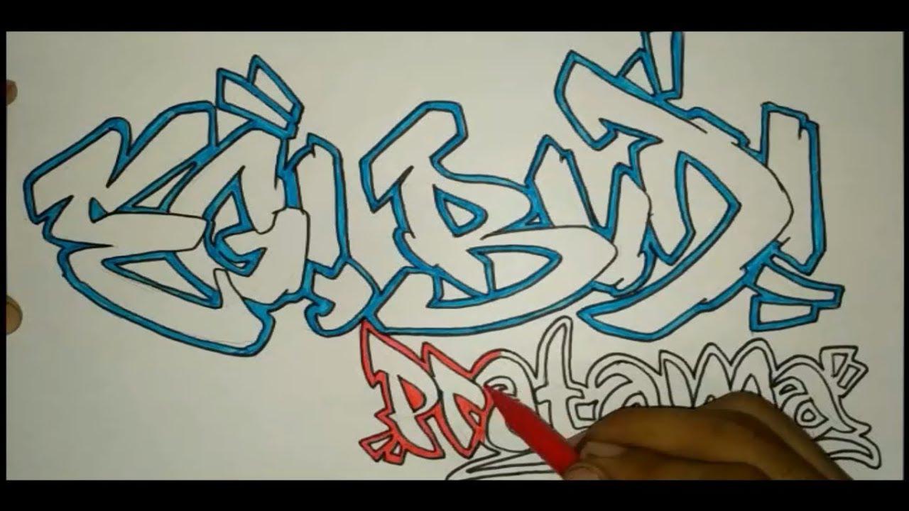 Membuat Graffiti Nama Egi Budi Pratama