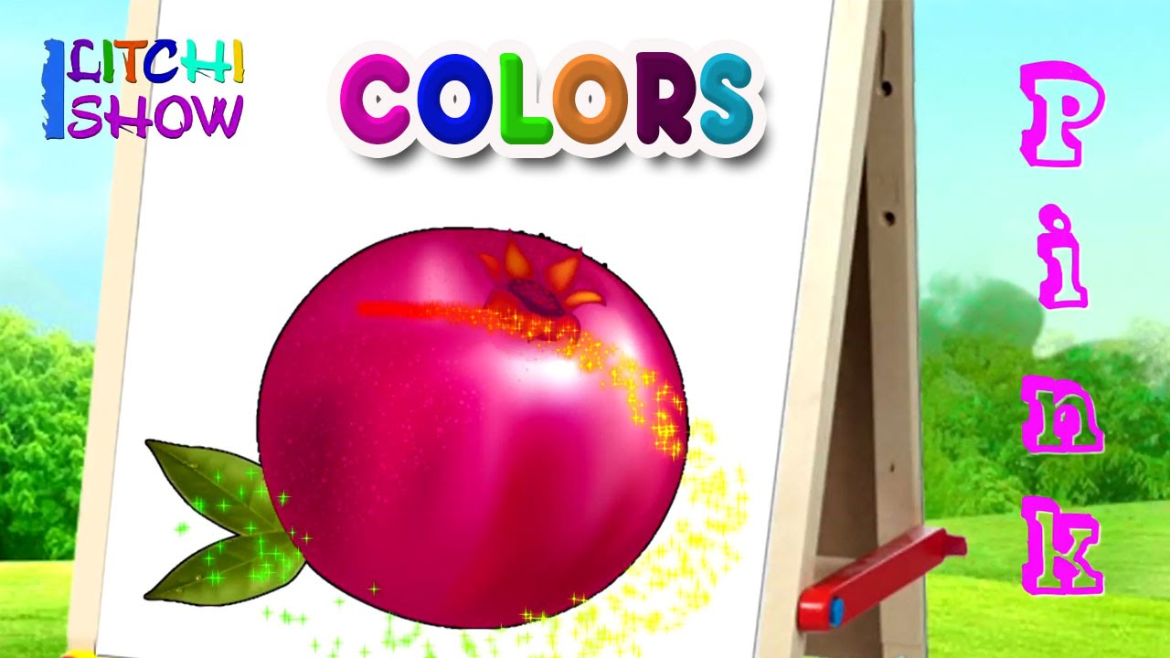 Color Names With Fruits Color Names For Children Learn Basic