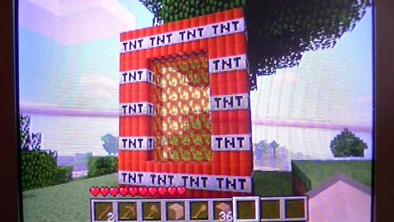 Minecraft tnt portal xbox 360 part 1 youtube