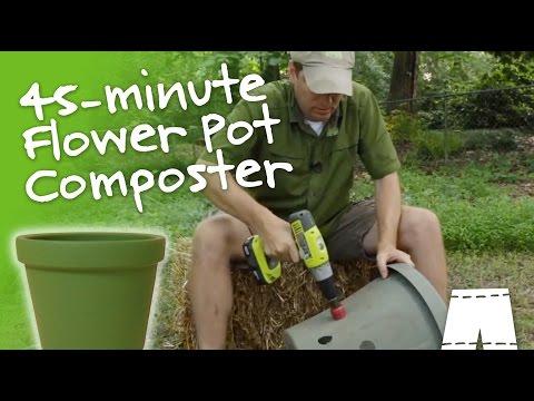 How to Make a Compost Bin from a Flower Pot | GreenShortzDIY