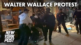 Anti-cop protesters leave trail of destruction in Downtown Brooklyn | New York Post