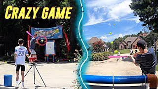 Blitzball Game Against 150 MPH Pitching Machine....| NEA Blitzball