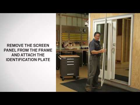 Installing And Adjusting A Gliding Insect Screen | Andersen Windows